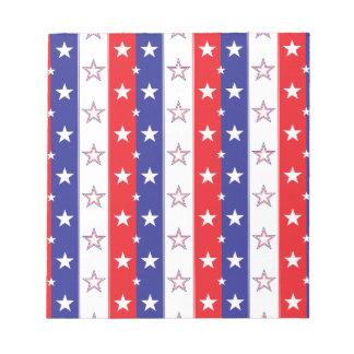 Patriotic Pattern Note Pad