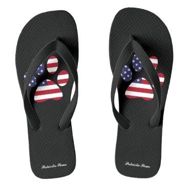 USA Themed PATRIOTIC PAWS FLIP FLOPS