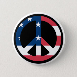 Patriotic Peace Button