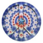 Patriotic Peace Dinner Plate