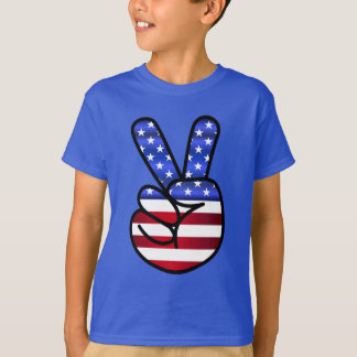 Patriotic peace fingers T-Shirt