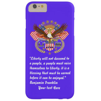 Patriotic Peace Forest Deep Azure Barely There iPhone 6 Plus Case