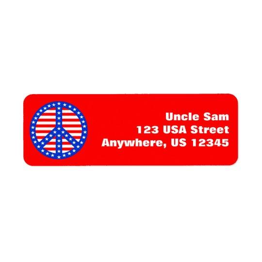 Patriotic Peace Label