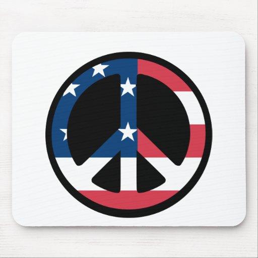 Patriotic Peace - Mousepad Mouse Pad