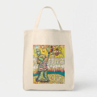 Patriotic Peace Power Tote Bags