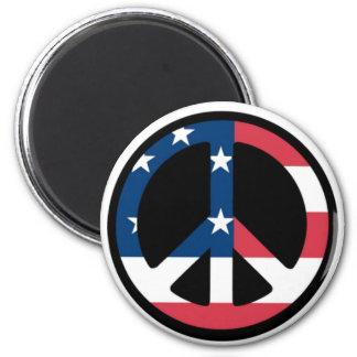 Patriotic Peace Sign 2 Inch Round Magnet