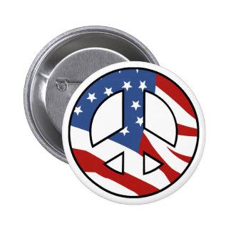Patriotic Peace sign button