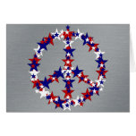 Patriotic Peace Sign Greeting Card