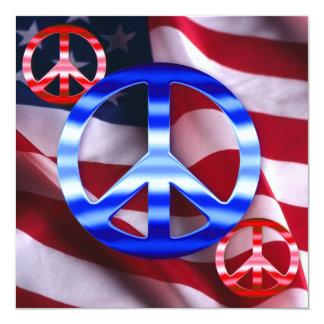 Patriotic Peace Sign Invitations
