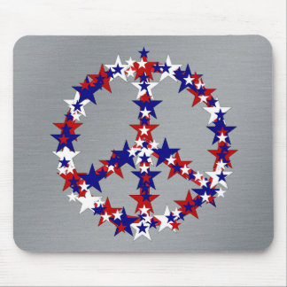 Patriotic Peace Sign Mouse Pad