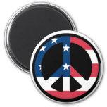 Patriotic Peace Sign Refrigerator Magnet