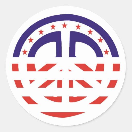 Patriotic Peace Sign stickers