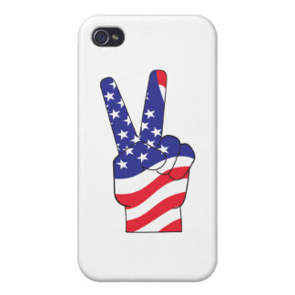 Patriotic Peace Sign USA iPhone 4 Cover