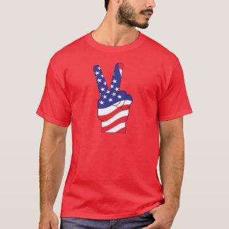 Patriotic Peace Sign USA T-Shirt