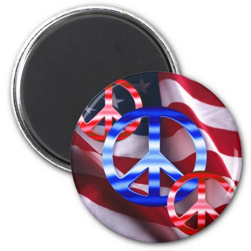 Patriotic Peace Signs Magnets