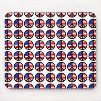 Patriotic Peace Signs Mouse Pad