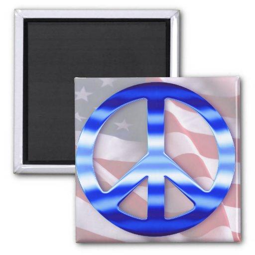 Patriotic Peace Signs Refrigerator Magnet