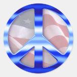 Patriotic Peace Signs Round Sticker