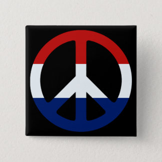 Patriotic Peace Symbol Button