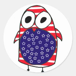 Patriotic Penguin Stickers
