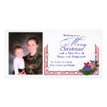 Patriotic Photo Christmas Card Personalized Photo Card