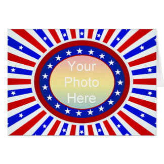 Patriotic Photo Frame Template Card