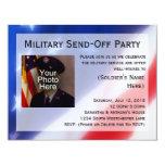 "Patriotic Photo Military Send-off Party Invitation 4.25"" X 5.5"" Invitation Card"