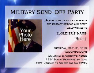 send off party invitations zazzle