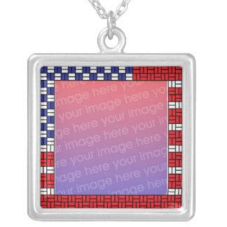 Patriotic Photo Necklace