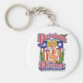 Patriotic-Pilsner Basic Round Button Keychain