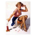 Patriotic Pin-Up Post Cards