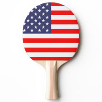 Patriotic ping pong paddle with American flag