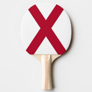 Patriotic, ping pong paddle with Flag of Alabama