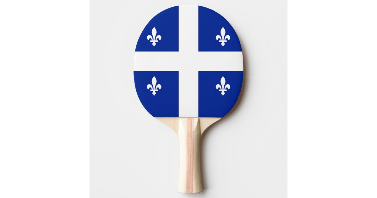 Patriotic Ping Pong Paddle With Flag Of Quebec Zazzle Com