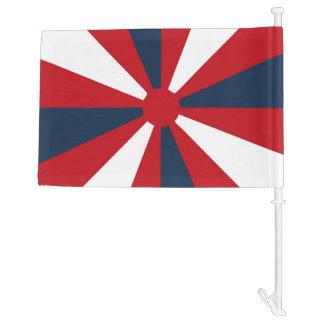 Patriotic Pinwheel Car Flag
