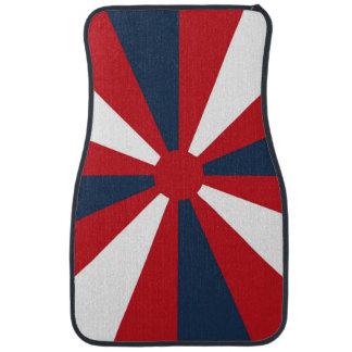 Patriotic Pinwheel Car Floor Mat