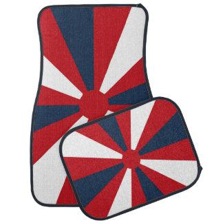 Patriotic Pinwheel Car Mat