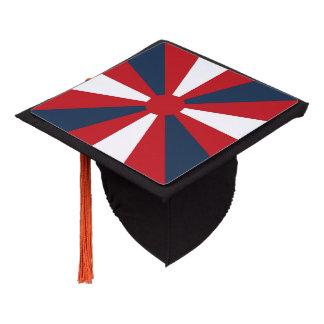 Patriotic Pinwheel Graduation Cap Topper