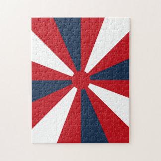 Patriotic Pinwheel Jigsaw Puzzle