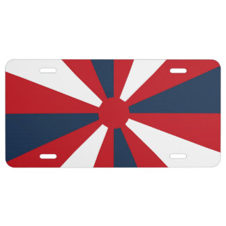Patriotic Pinwheel License Plate