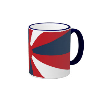 Patriotic Pinwheel Ringer Mug