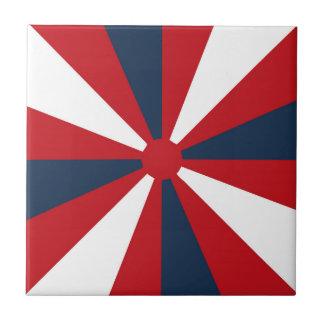 Patriotic Pinwheel Tile
