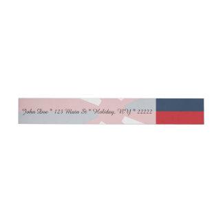 Patriotic Pinwheel Wrap Around Address Label