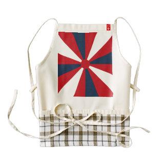 Patriotic Pinwheel Zazzle HEART Apron