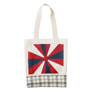 Patriotic Pinwheel Zazzle HEART Tote Bag