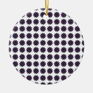 Patriotic Pinwheels Ceramic Ornament