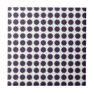 Patriotic Pinwheels Ceramic Tile