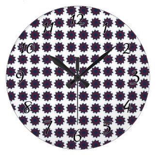 Patriotic Pinwheels Large Clock