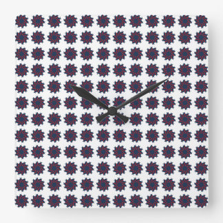Patriotic Pinwheels Square Wall Clock