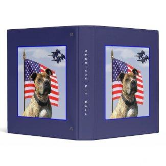 Patriotic pit bull binder binder